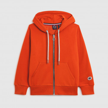ZIP UP HOOD KID ORANGETERRY