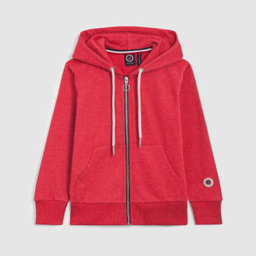 ZIP UP HOOD KID RICK RED MARL TERRY