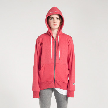 ZIP UP HOOD RICK RED MARL TERRY