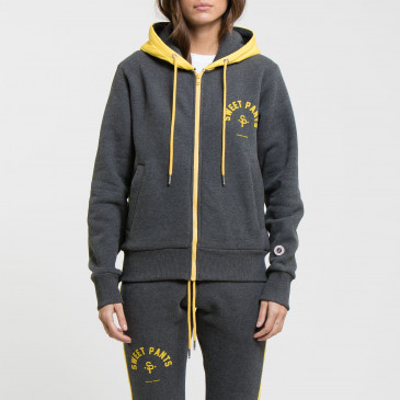 TWICE ZIP UP  BLACK MARL/GOLD