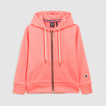 KID ZIP UP HOOD LASER CORAIL