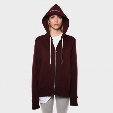 ZIP UP HOOD BORDEAUX TERRY