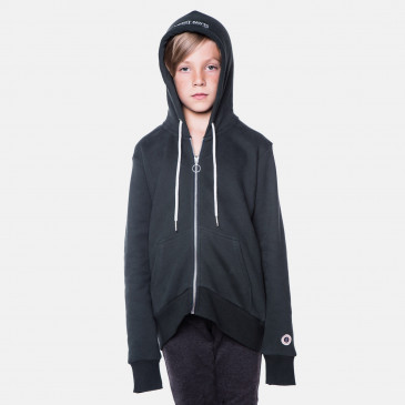 ZIP UP HOOD DARK BOTTLE KID