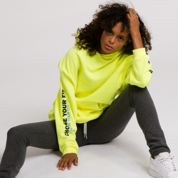 PRODUCT HOODIE JAUNE FLUO