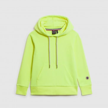 CLASSIC HOOD KID NEON YELLOW TERRY