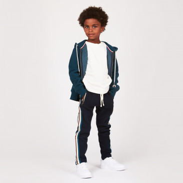 KID ZIP UP HOOD DARK GREEN