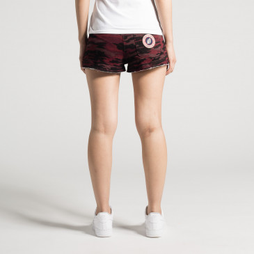 SHORTY CAMOUFLAGE BORDEAUX