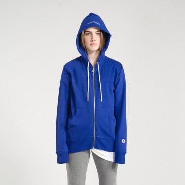 ZIP UP HOOD COBALT TERRY