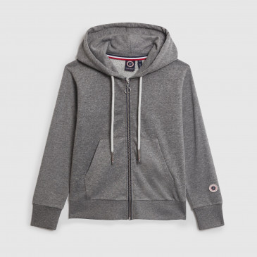 ZIP UP HOOD KID DARK MARL TERRY