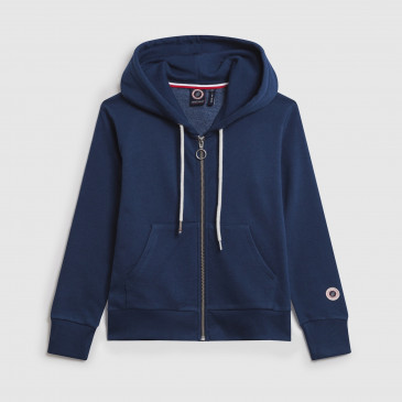 ZIP UP HOOD KID DENIM TERRY