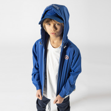 KID TACTEL HOOD BLEU SUPREME