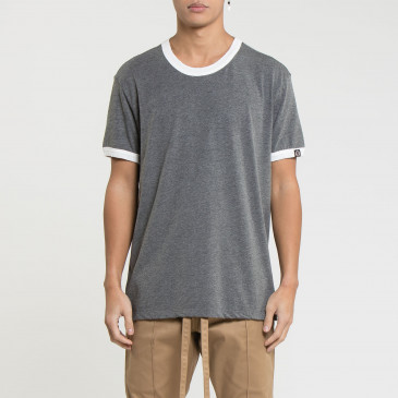 RINGER DARK MARL/OFF WHITE