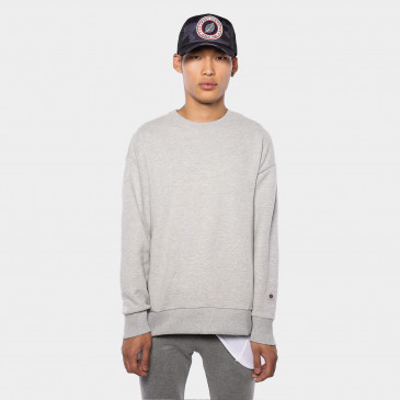 CLASSIC CREW GREY MARL TERRY