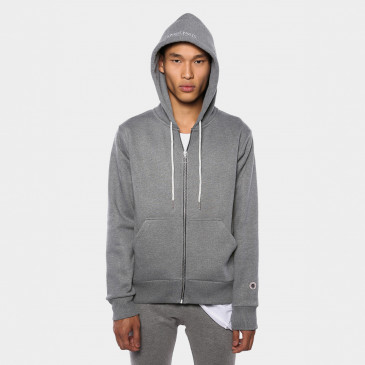 ZIP UP HOOD DARK MARL TERRY