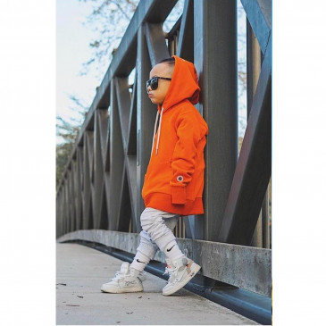 CLASSIC HOOD KID ORANGE TERRY