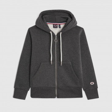 TKID ZIP UP HOOD BLACK MARL