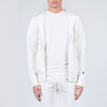 URBAN RAGLAN ZIP UP DIRTY WHITE