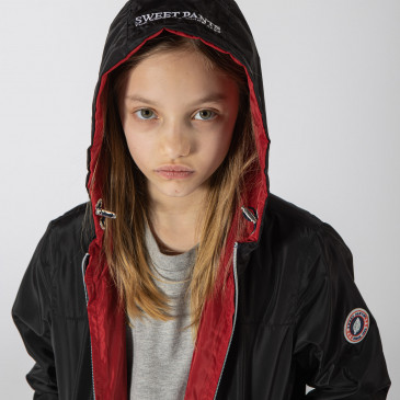 KID WINDBREAKER BLACK/RED