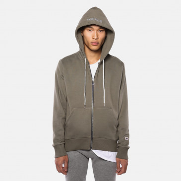 ZIP UP HOOD ARMY MARL