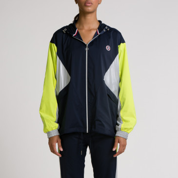 TACTEL WIND NAVY/JAUNE FLUO
